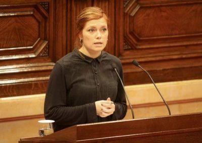 Elisenda Alamany en una intervenció al Parlament de Catalunya